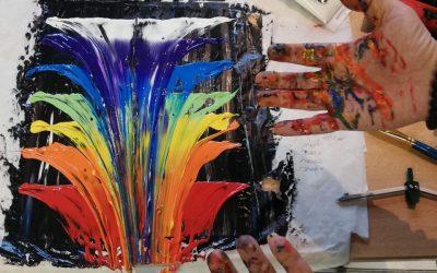 Premier atelier d'arts plastiques du GEM Parasol de Nancy