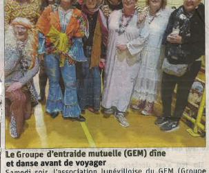 Soirée dansante GEM de Lunéville