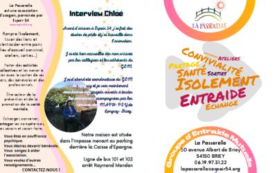 Association d'usagers La Passerelle : planning et livret du mois d'avril
